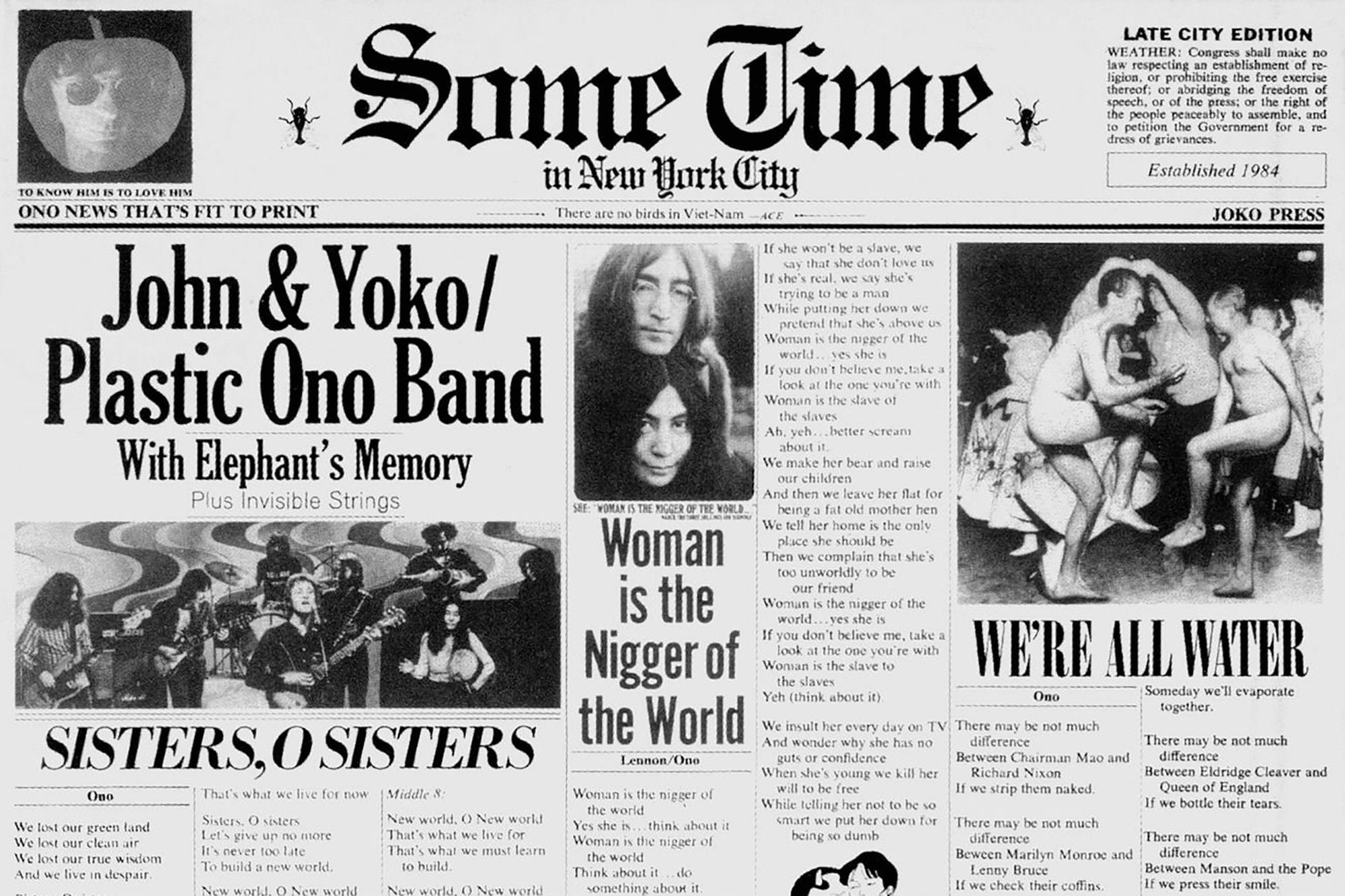 John Lennon and Location: Someone's Time in New York City
